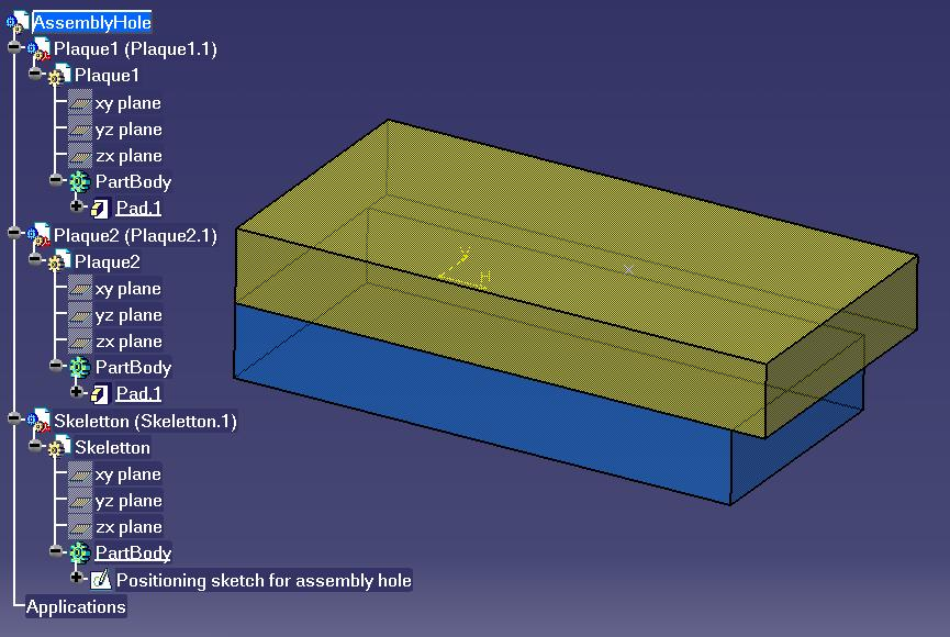 Creating and Modifying an Assembly Hole